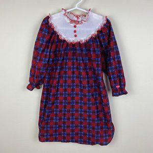 Vintage OshKosh B'gosh Girls Flannel Nightgown 3T